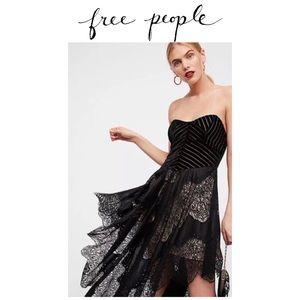 Free People Dark Fairy midi lace dress. New